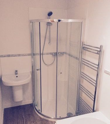 level access shower slough