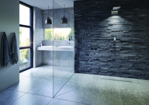 walk-in shower slough