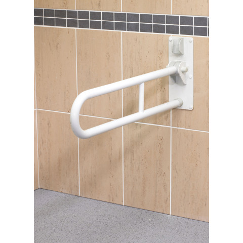 Fold Up Double Support Rail (White)