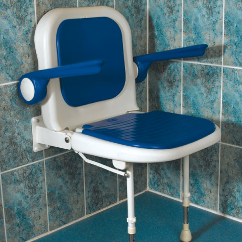 4000 Series Standard Shower Seat with Back and Arms – Padded