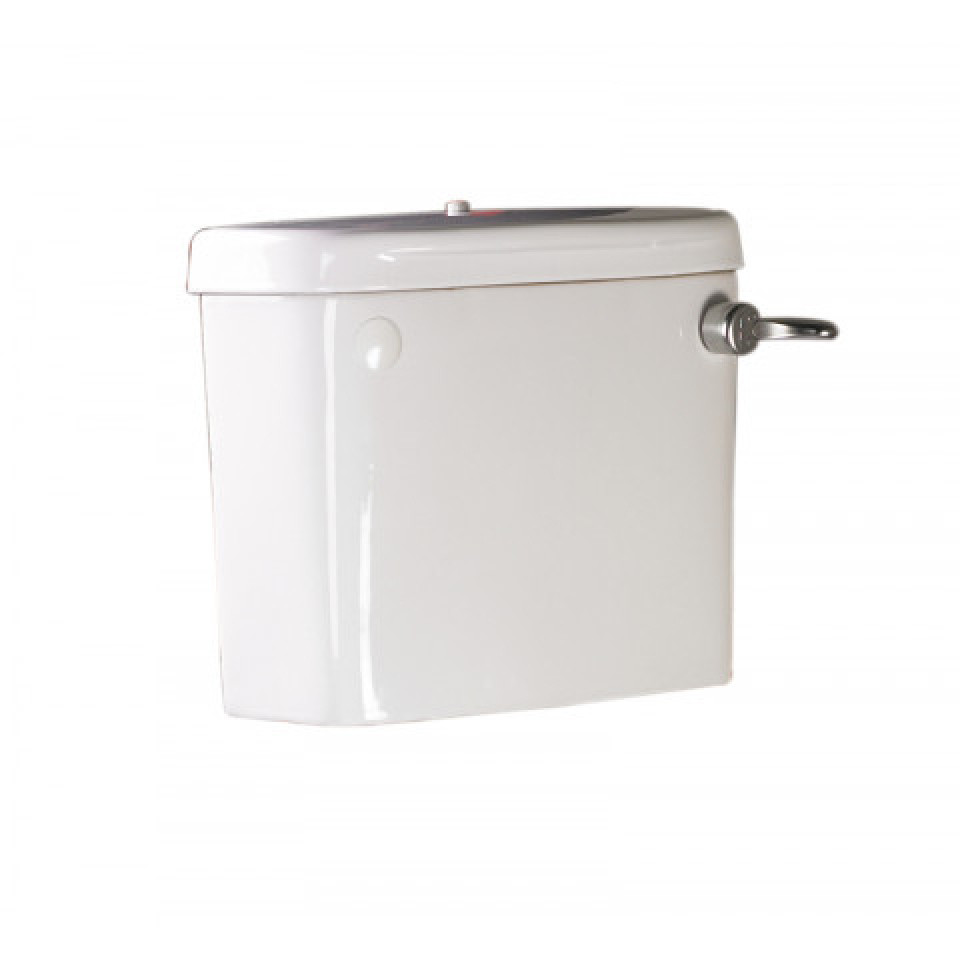 Cistern with Screw Down Lid and Flush Handle for Close coupled Toilet Pans