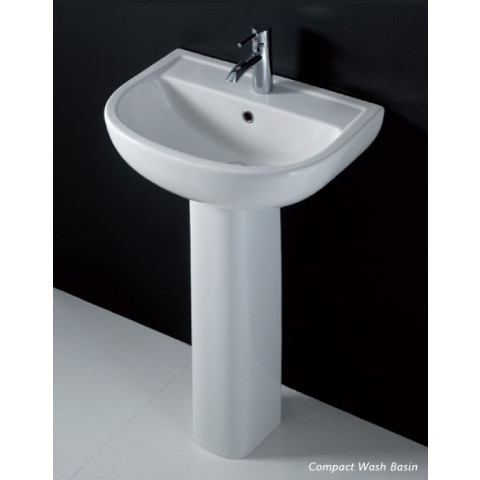 Compact Pedestal for 550mm Basin