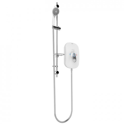 SmartCare Lever White 8.5kw with silver/white kit